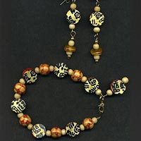 Asian Bracelet and Earrings