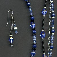 Blue Black and Silver Jewelry